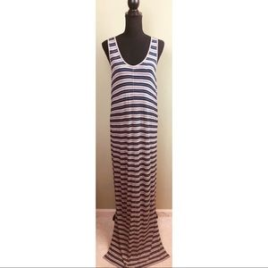 Madewell gray and navy racerback maxi dress